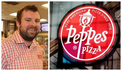 PUSHER PIZZA: Ruben Solheim på Circle K kan snart tilby Peppes Pizza til kundane sine