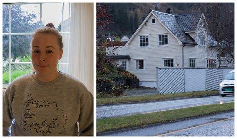 LØYSING: Matilde Ulleland Kvammen håpar å finne ei løysing om eigedomen til familien i Fjellvegen.