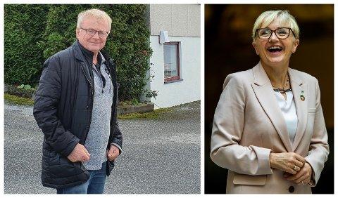 VANSKELEG Å STYRE SEG: Valekspert Knut Henning Grepstad meiner slike tal gjer det vanskeleg for Liv Signe Navarsete å trekkje seg frå rikspolitikken.