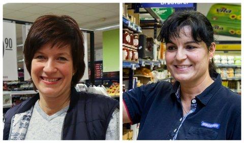 MEST EFFEKTIV: Laila Jakobsen (46, t.v.) dreiv meir effektivt enn søstera Gerd (49) i fjor. Begge er veteranar i daglegvarehandelen i Førde.