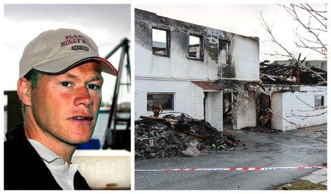 ARVING OG EINEEIGAR: Tor Løkeland eigde og var dagleg leiar for Sigurd Løkeland AS. Bildet til høgre er frå brannen i 2016.