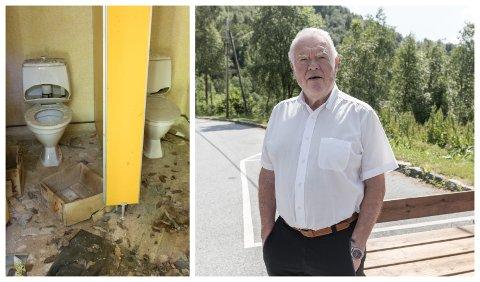 TRIST: Bjørn Vollstad synest det er trist at Førde ikkje har betre toalettanlegg enn det som finst i Erdalen i dag.