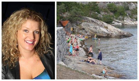 OPPGRADERING: Høyanger kommune kjem til å bruke 1,5 mill. på friluftsområdet ved Austreim.- Det blir veldig flott, Anita Nordheim, kommunalsjef for kultur og folkehelse.