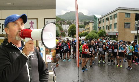 ARRANGØR: – Løpet er 53 kilometer lang, og går gjennom ulendt terreng. Det blir spennande føre i dag, sidan det no regnar ganske godt, seier Terje Lyngstad.