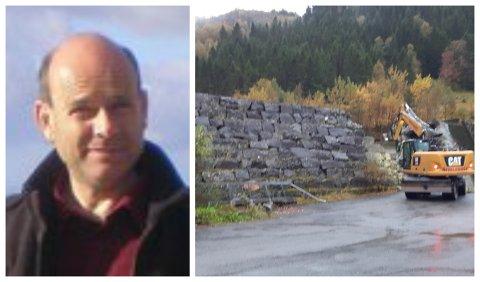 TRIST: Finn Helge Helgesen synest det er leit at den gamle demningen i Dale skal rivast.