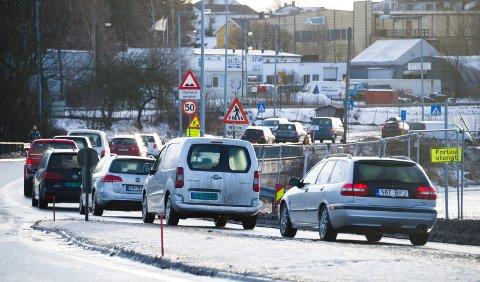 Veiutbyggingen er det punktet Tor Prøitz mener er viktigst for å få fart på næringslivet i Nedre Glomma. Bilde fra den første fasen av prosjektet Ørebekk-Simo.