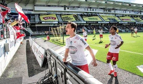 Årets første: Rino Falk Larsen scoret sesongens første FFK-mål. I dag starter Falk Larsen etter alle solemerker på benken. (Foto: Geir A. Carlsson)