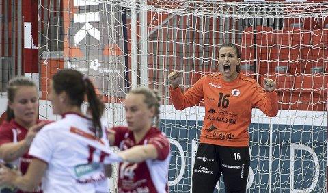 STORSPILTE: Jenny Sandgren leverte en kjempekamp mot Larvik sist helg. Foto: Joachim Hellenes