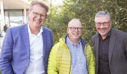 Starter opp ny togforbindelse: Jørn Eldby, SINTEF Nord, Stig Winther, Pole Position, og Terje Steinsund i Futurum er klar med direktetog fra Narvik til Malmö og derifra videre til resten av Europa. Foto: Terje Næsje