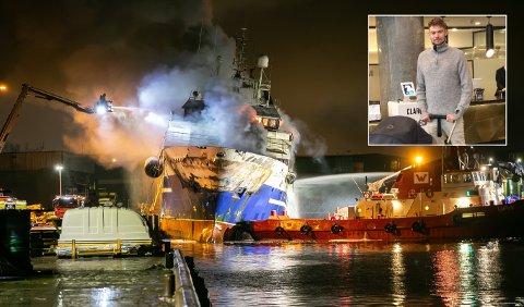 Etter å ha sett brannen med egne øyne, forteller Andreas Bøifot at den var større enn han først antatt.