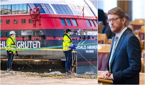 NY SJEF: Martin Henriksen går ut av Stortinget og inn i Hurtigrutens Oslo-kontor fra 9. august.