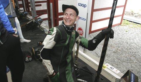 Smilte: Rune Vandevjen Olsen viste god skyting på ankeretappen for Solør. FOTO: HENNING DANIELSEN