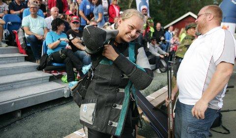NÆR POKALEN: Jenny Stene ble nummer tre i Stang-finalen, og det var små marginer som skilte fra seieren.
