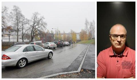 HØL I HUE: Endringene på kortidsparkeringen ved Lillehammer stasjon er ikke til det bedre, mener Egil Aanrudhaugen.