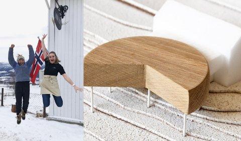 Hoppende glad for tilskudd (Foto: Privat). T.h. skisse på tilbygget til Avdemsbue fra Ram arkitektur.