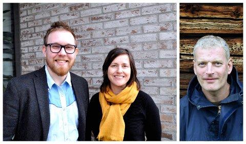 """FELLES BOKGLEDE: Mathias R. Samuelsen og Marit Borkenhagen fra Litteraturfestivalen leder lesesirklene i Lillehammer. Første bok ut er """"Søsterklokkene"""" skrevet av Lars Mytting fra Ringebu.  leder"""