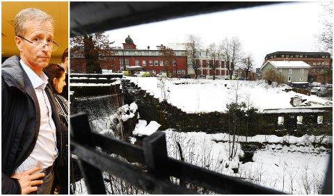 TERRASSEN: Styreleder i Lillehammer Sentrum Drift, Kjetil Schonhowd, frykter at Terrassen-tomta kan bli liggende brakk. - Jeg håper og forventer at næringslivet bidrar for å redde prosjektet, sier han.