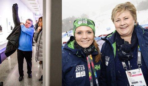 Linda Hofstad Helleland (41) forteller i et intervju med VG at Erna Solberg sa klart ifra om at IOC ikke representerer norske verdier til IOC-president Thomas Bach, da de møttes under ungdoms-OL på Lillehammer i 2016.