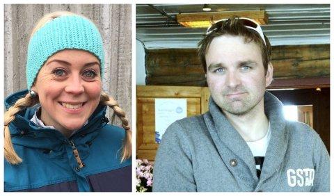 GLADE: Mari Wedum, dagleg leiar i Visit Jotunheimen, og Råmund Mundhjeld, vert ved Sognefjellshytta, er glad for at Sognefjellsvegen opnar 12.april.