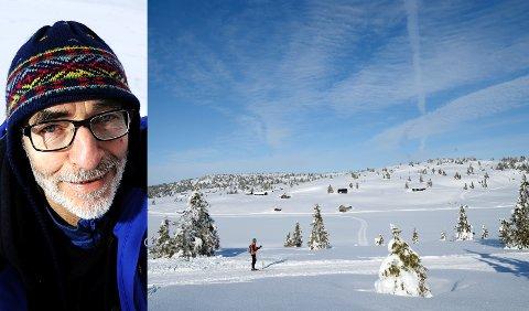 MELSJØEN: Her på Melsjøsetra, bak til venstre i bildet, så Jan Jørstad ulven.