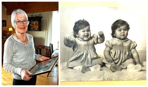 Lise Olsen opplevde at den egeneggede lillesøsteren hennes ble rammet av demens.  *** Local Caption *** BArndomsbilde av Mimi og Lise.