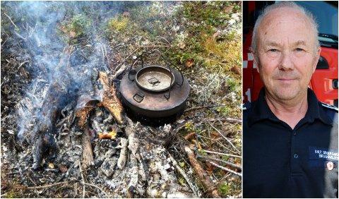 VÆR VARSOM: Selv om det er bålforbud fra 15. april, er det unntak for et kaffebål: – Men vær varsom og forsikre deg om at det ikke kan føre til brann, sier brannsjef Knut Birger Bakken.