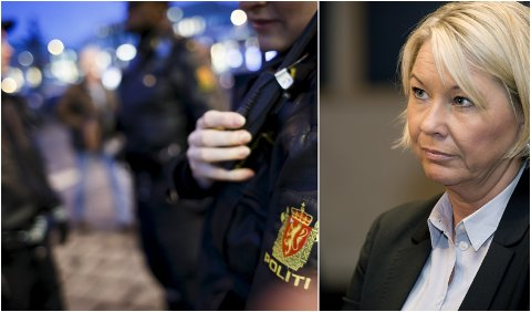 SVARER: Justis- og beredskapsminister Monica Mæland viser til at responstidene er innenfor kravet, når hun forsvarer politiberedskapen i Gudbrandsdalen.
