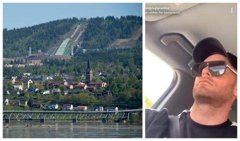 Mannegruppa Ottar oppsøkte Lillehammer sist uke med hensikt å advare nabolaget til en overgrepsdømt. Ifølge politiet er ikke dette privatpersoners oppgave. Bildet er en illustrasjon. Boligene på bildet har ingenting med saken å gjøre. Til høyre: Aksjonisten fra Mannegruppa Ottar