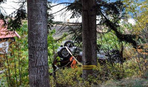 NABOER VARSLET: - Det er ikke sikkert ulykkesbilen hadde vært så lett å oppdage om ikke vi hadde vært hjemme, sier naboen.