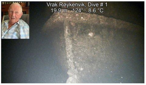 KJENNER HISTORIA: Leif Hagen jobbet i Røykenvik på 50-tallet, og mener han vet hvilken båt som er funnet på bunnen av Randsfjorden.