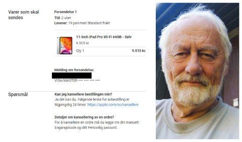 LOT SEG IKKE LURE: Per G. Nordheggen ante at noe var galt da han fikk denne eposten.