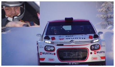 SYKT: Her får Nils Arne Morka oppfylt en drøm når han får sitte på med Trond Sveinsvoll i hans rallybil.