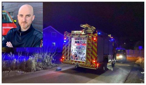 MANNSKAP I KARANTENE: Brannsjef Sturla Bråten hos Lunner - Gran brann og redning forteller at karantenesetting av nærkontakter påvirker bemanningen hos brannvesenet.
