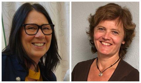 FORNØYDE: Både kommunalsjef May Birgit Kjeverud (til venstre) og konstituert rektor Anne Lie Kongsrud er fornøyde.