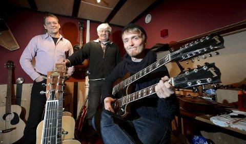 Studio: Eier Dag Johansen (fra venstre), daglig leder Kai Andersen og tekniker Dag Erik Johansen. Arkivfoto: Stein Johnsen