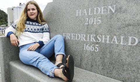 Gleder seg: 18. august skal Sanne Kvitnes synge her på Indre havn. Fra en flåte, med hele Det Norske Blåseensemble i ryggen. Hun gleder seg som en liten unge.