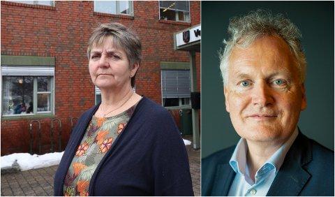 Ordfører Berit Hundåla og styreleder Arne Benjaminsen i Helgelandssykehuset.