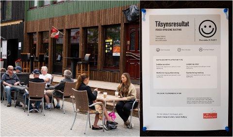 Mattilsynet er med jevne mellomrom ute for å kontrollere kafeer og restauranter i Mosjøen. Hos Tippen Gastro var alt i skjønneste orden ved forrige tilsyn. Spisesteder er pålagt av Mattilsynet å henge opp tilsynsresultatet på et sted hvor det er godt synlig for kundene.