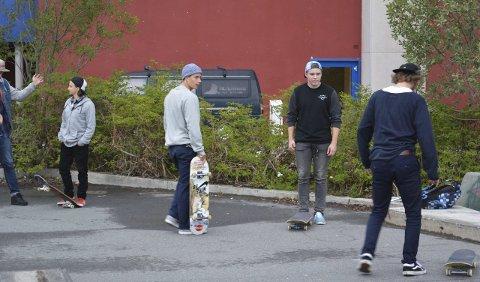 Skateprofil: Michael Sommer sammen med de lokale skaterne.