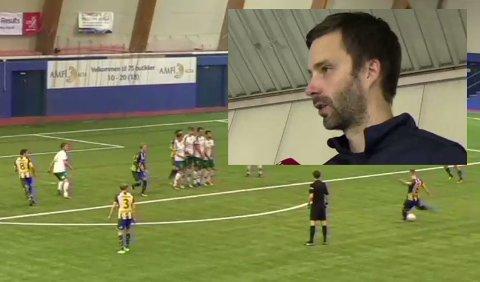 - FOR UPRESISE: Alta IF-trener Rune Repvik mener laget ble for upresise i kampen mot HamKam. Skjermdump: iFinnmark.no