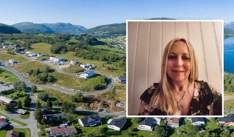 ÅPEN FOR Å SELGE MER: – Hvis kommunen ønsker det så har jeg masse eiendom. Det er flere muligheter her, bare de tar kontakt, sier grunneier Hilde Markussen.