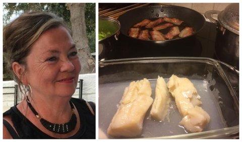 Norunn Bjørseth (62) ble slett ikke imponert da hun tilberedte lutefisken lørdag kveld. – Ikke en gang hunden min ville ha den!