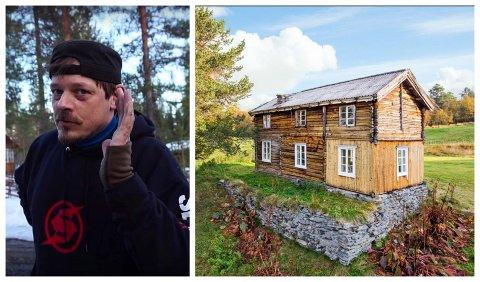 LIKER SNØ OG FJELL: Klas Karlsson var på utkikk etter småbruk i fjellnære strøk. Han falt pladask for utsikten fra Kvannkåsbakken på Narjordet, og flytter inn til våren hvis alt går som det skal.