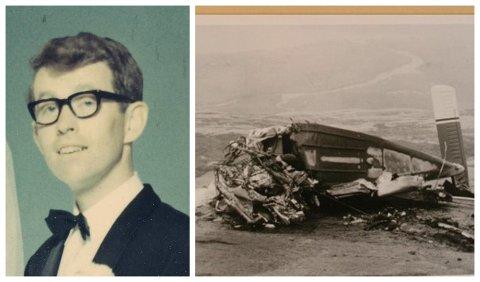 Lege Johan Glæstad omkom momentant da ambulanseflyet han satt i kom ut av kurs, og kræsjet i Breitind i Sandnessjøen.