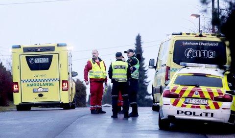 OMKOM: En kvinne døde etter å ha blitt rygget over av en bil i Ekebergveien. Ulykken er fortsatt under etterforskning.