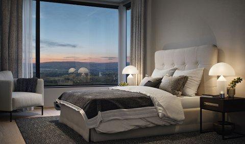 """""""PENTHOUSE"""": Leiligheten som er solgt for nesten 18 millioner ligger i åttende etasje."""