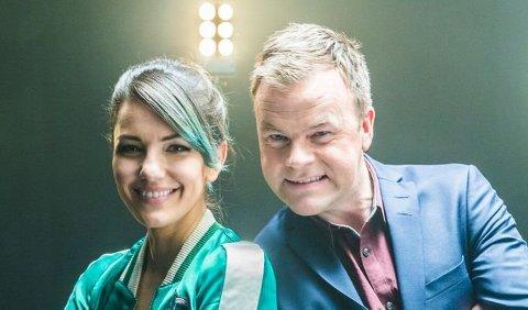 PROGRAMLEDERPAR: Selda Ekiz og Ole Rolfsrud gleder seg til å underholde Norges befolkning på lørdagskveldene fra 13. januar.
