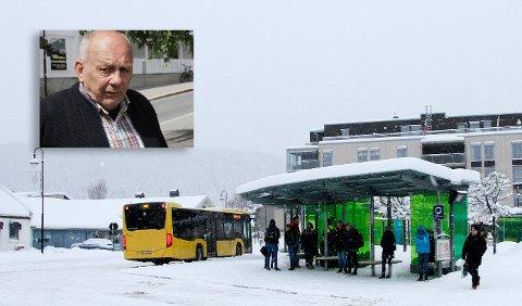 KOLLEKTIVT: Buss mellom Kongsberg og Torp flyplass ved Sandefjord, er noe som må utredes, mener Stellef Hundseid i Kongsberg Høyre.