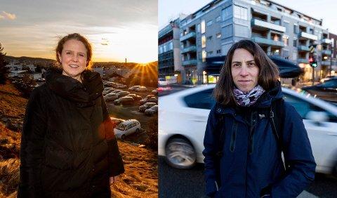 Britt Ann Høiskar (t.v.), forskningsdirektør ved NILU, og Claudia Hak, seniorforsker ved NILU (Norsk institutt for luftforskning).