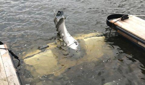 Sunket: To båter har sunket ved Lilleeide havn.